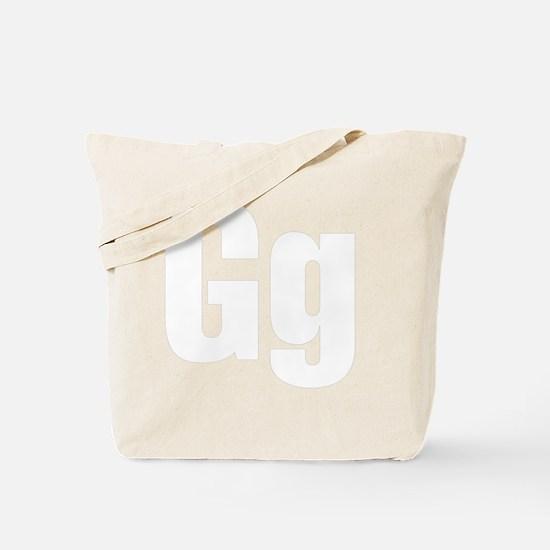 helvetica_gg_white Tote Bag