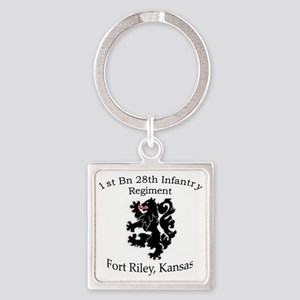 1st Bn 28th Inf Square Keychain