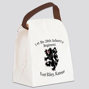 1st Bn 28th Inf Canvas Lunch Bag