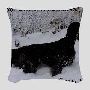SpencerBeautyBrainsBirdsense Woven Throw Pillow