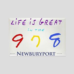 newburyport Rectangle Magnet
