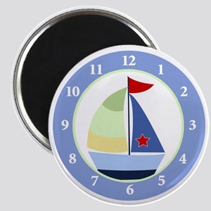 Sailboat Wall Clock Magnet