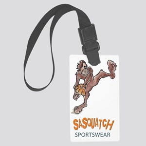 Bigfoot Baseball - Sasquatch Spo Large Luggage Tag