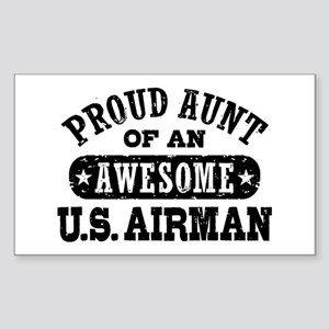 Proud Aunt of an Awesome US Airman Sticker (Rectan