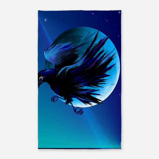 Raven and Moon LargePoster 3'x5' Area Rug