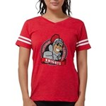 Lady's Red Football T-Shirt