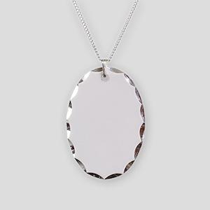 bucknbroncowhitelogo Necklace Oval Charm