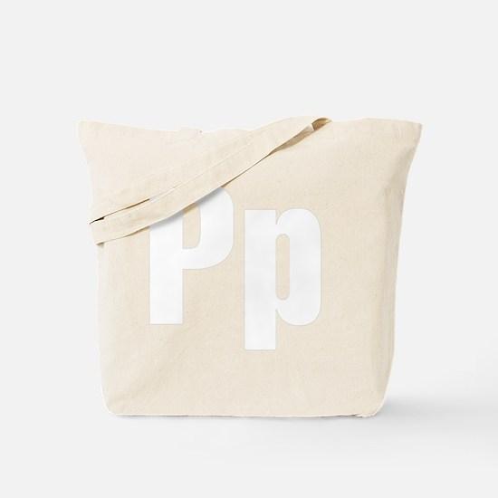 helvetica_pp_white Tote Bag