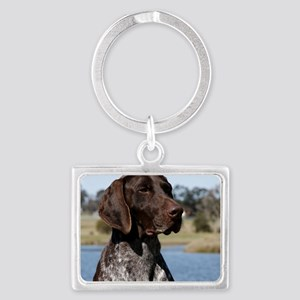 German Shorthaired Pointer 9Y83 Landscape Keychain