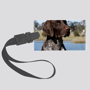 German Shorthaired Pointer 9Y832 Large Luggage Tag