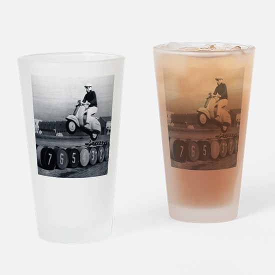 Stunt Scooter Drinking Glass