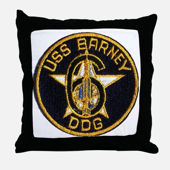 barney patch Throw Pillow