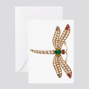 bulgari dragonfly brooch large78 Greeting Card