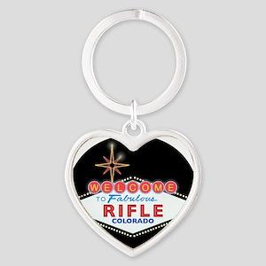 RIFLE LIGHT Heart Keychain