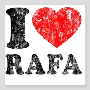 "Love Rafa Square Car Magnet 3"" x 3"""