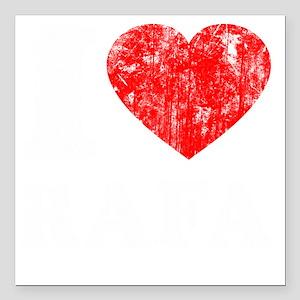 """Love Rafa - dk Square Car Magnet 3"""" x 3"""""""