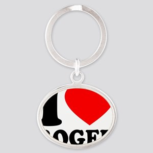 Love Roger 2 Oval Keychain