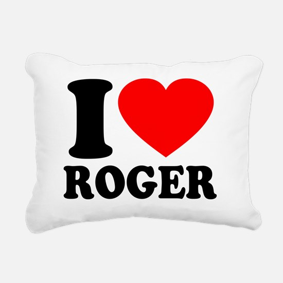 Love Roger 2 Rectangular Canvas Pillow
