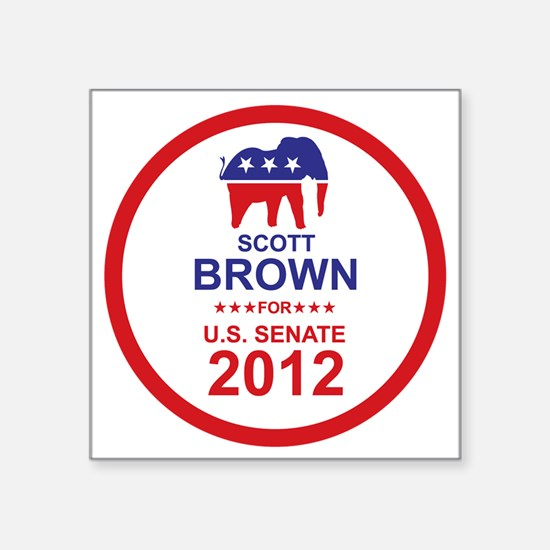 "2012_scott_brown_main Square Sticker 3"" x 3"""