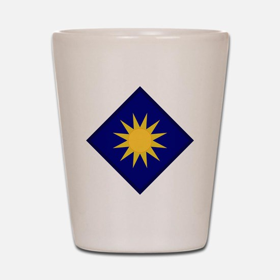 40th Infantry Division Shot Glass