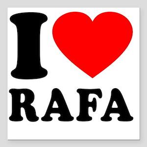 "Love Rafa 2 Square Car Magnet 3"" x 3"""