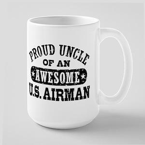 Proud Uncle of an Awesome US Airman Large Mug