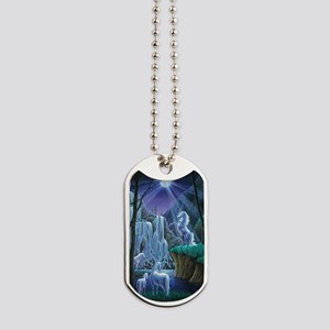 Unicorns in the Moonlight large poster Dog Tags
