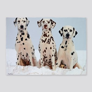dalmatian for blanket 5'x7'Area Rug