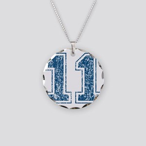 retro-11_blue Necklace Circle Charm