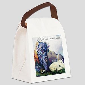white buffalo legend Canvas Lunch Bag