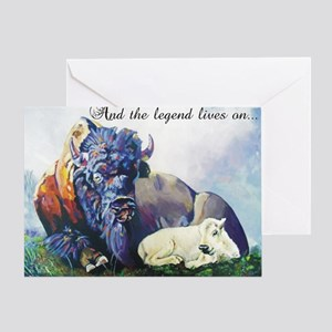 white buffalo legend Greeting Card