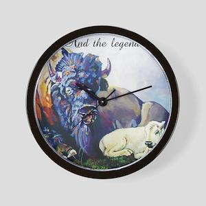 white buffalo legend Wall Clock