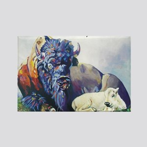 white buffalo legend Rectangle Magnet