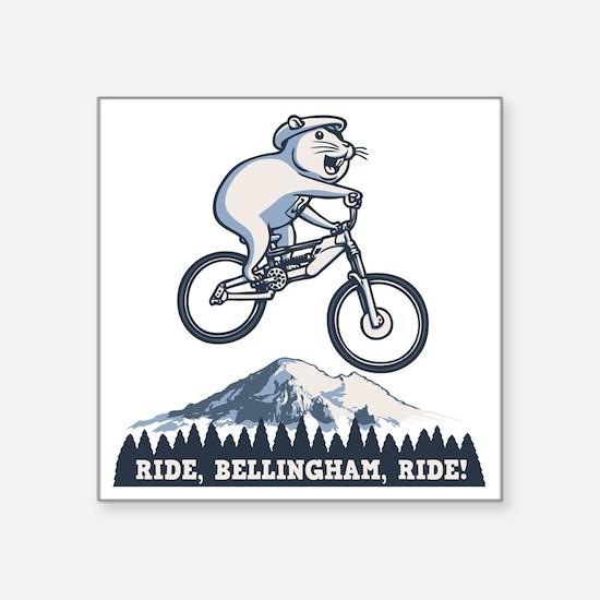 "bike-bham-T Square Sticker 3"" x 3"""