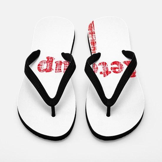ketchup humor 2 vintage Flip Flops