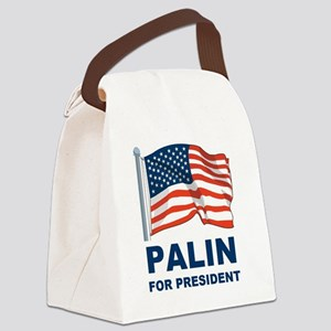 1 Palin for president Canvas Lunch Bag