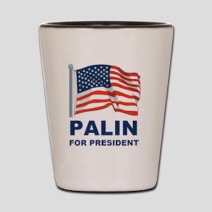 1 Palin for president Shot Glass