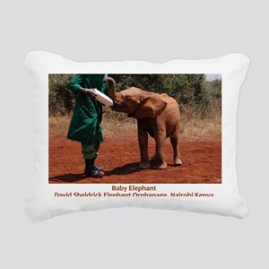Baby Elephant Rectangular Canvas Pillow