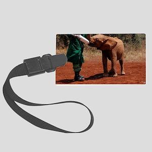 Baby Elephant Large Luggage Tag