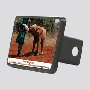 Baby Elephant Rectangular Hitch Cover