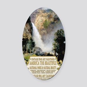 1 A COVER -AMERICA THE BEAUTIFUL 2 Oval Car Magnet
