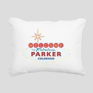 PARKER DARK Rectangular Canvas Pillow