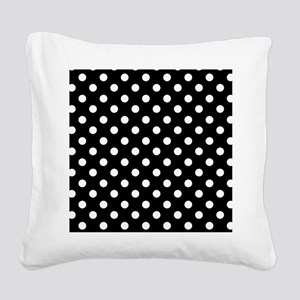 bw-polkadot Square Canvas Pillow