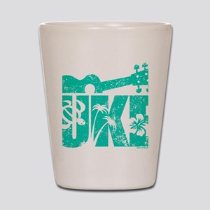 UKE Green Shot Glass