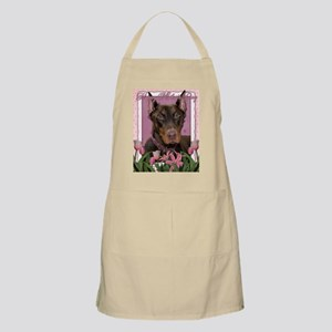 Mothers_Day_Pink_Tulips_Doberman_Red_Rocky Apron