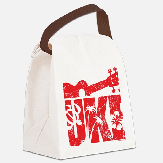 UKE Red Canvas Lunch Bag