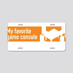 My favorite game console is Aluminum License Plate
