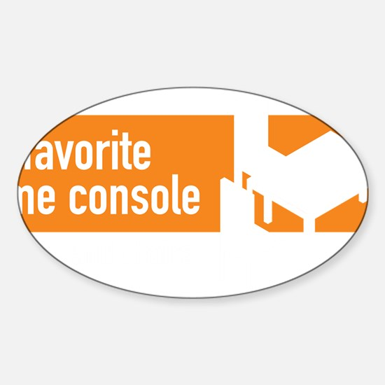 My favorite game console is a table Sticker (Oval)