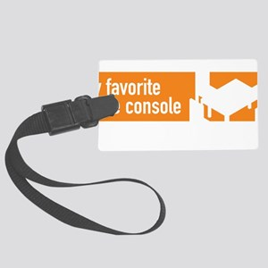 My favorite game console is a ta Large Luggage Tag
