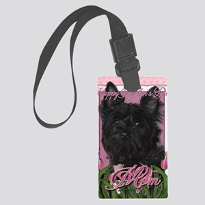 Mothers_Day_Pink_Tulips_Cairn_Ro Large Luggage Tag